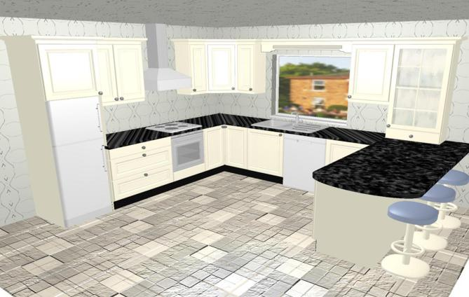 O 39 rourke kitchens for Bathroom designs 3m x 2m